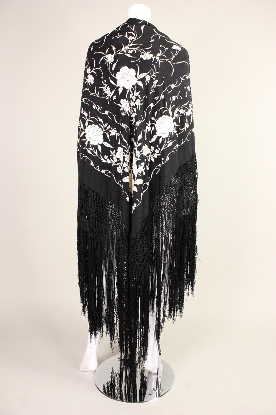 1920's Black Piano Shawl 4