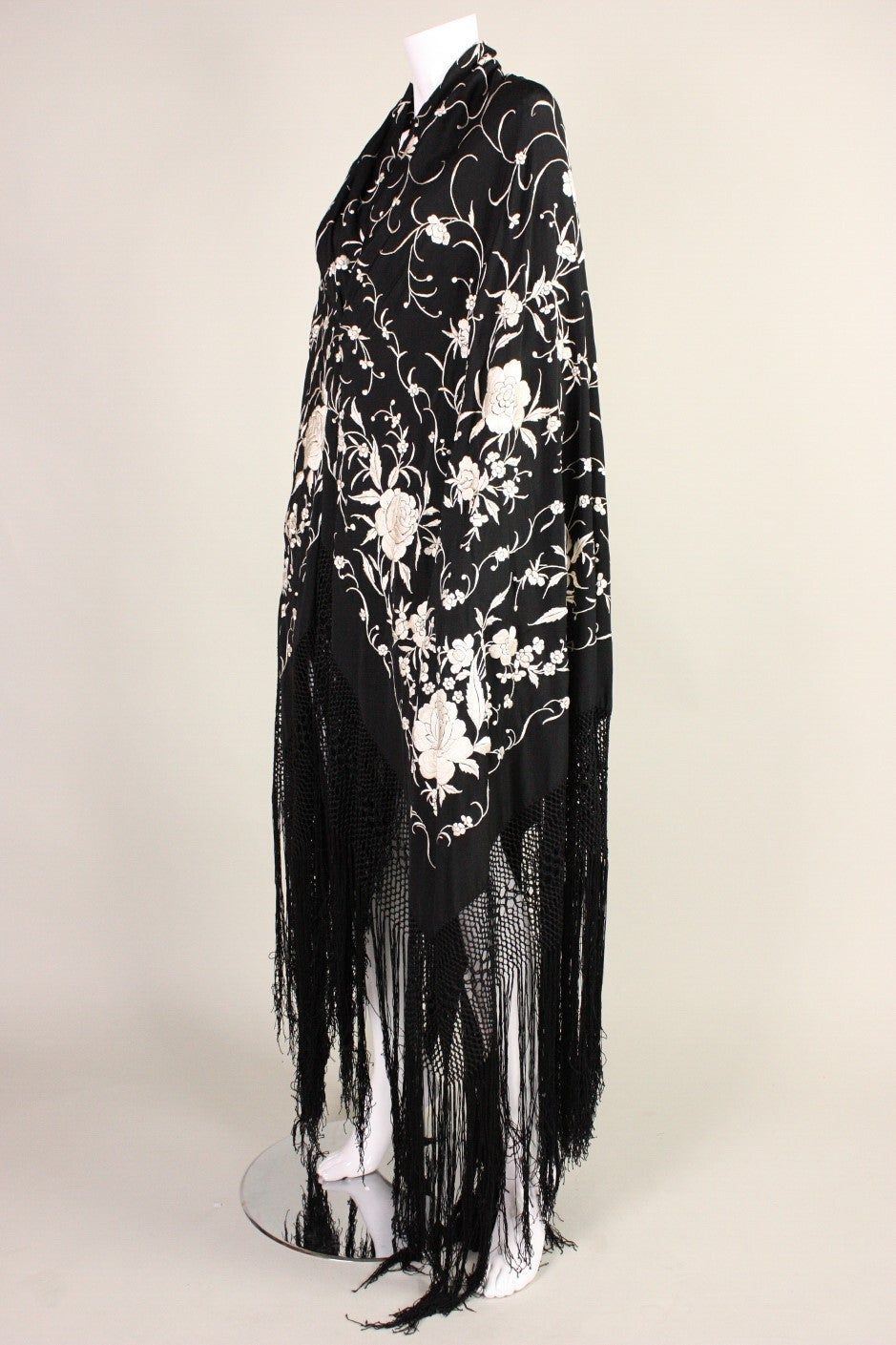 1920's Black Piano Shawl 3