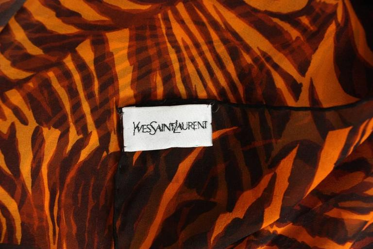 Yves Saint Laurent Chiffon Scarf with Leopard Print 5