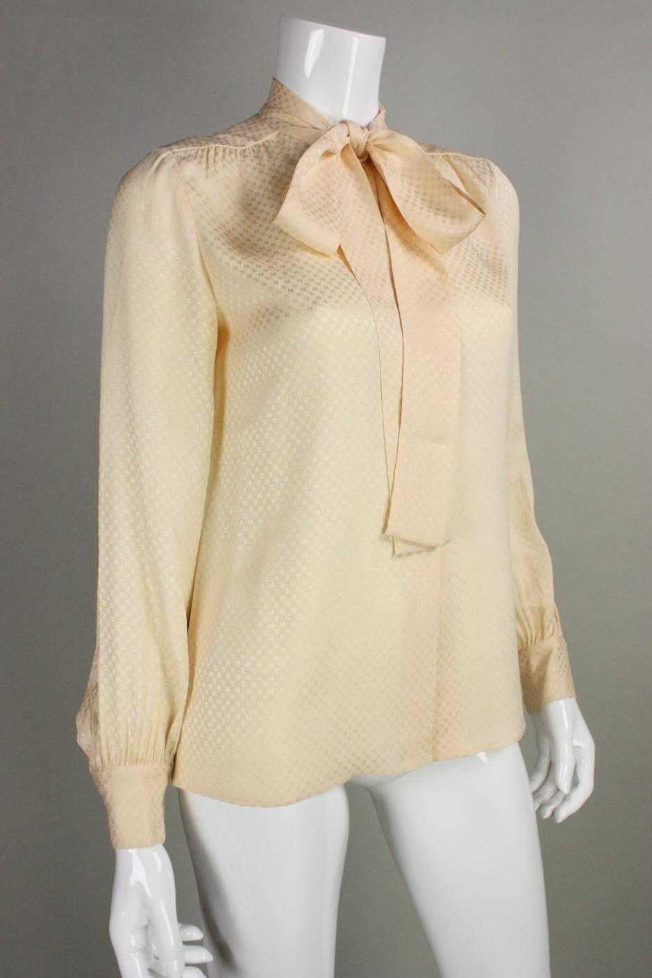 Vintage Chanel Silk Blouse 49