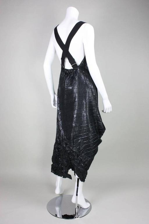 Black Marithe + Francois Girbaud Pleated Pinafore Dress For Sale