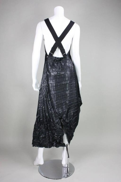 Marithe + Francois Girbaud Pleated Pinafore Dress In Excellent Condition For Sale In Los Angeles, CA