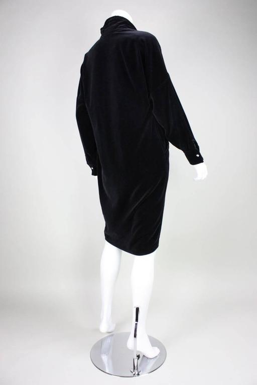 1980's Gianni Versace Black Velvet Cocktail Dress 4