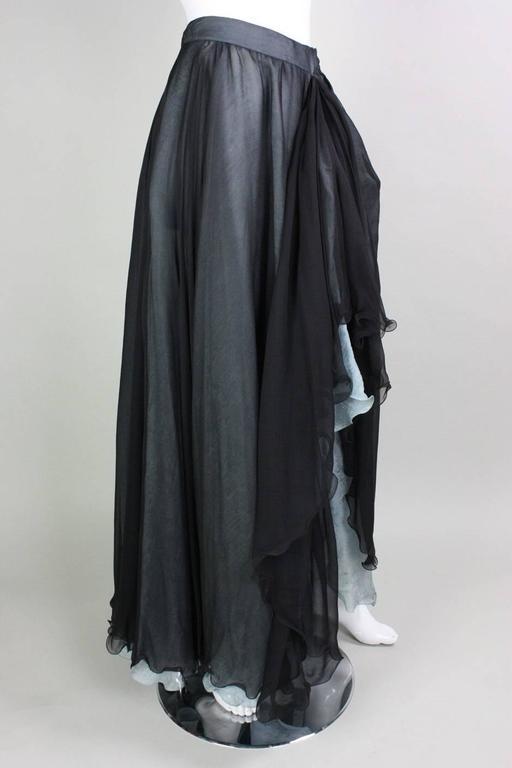 Giorgio Armani Double-Layered Silk Full Skirt 3