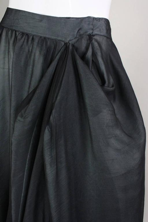 Giorgio Armani Double-Layered Silk Full Skirt For Sale 1