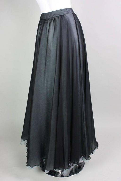 Giorgio Armani Double-Layered Silk Full Skirt 4