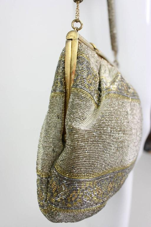 1950's Metallic Beaded Handbag Made in France 3