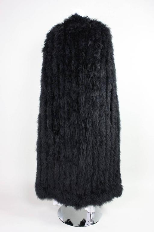 Vintage Black Full Length Marabou Feather Cape At 1stdibs