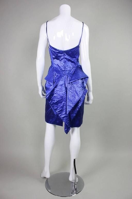 1980's Loris Azzaro Geometric Cocktail Dress & Jacket For Sale 2