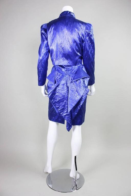 Women's 1980's Loris Azzaro Geometric Cocktail Dress & Jacket For Sale