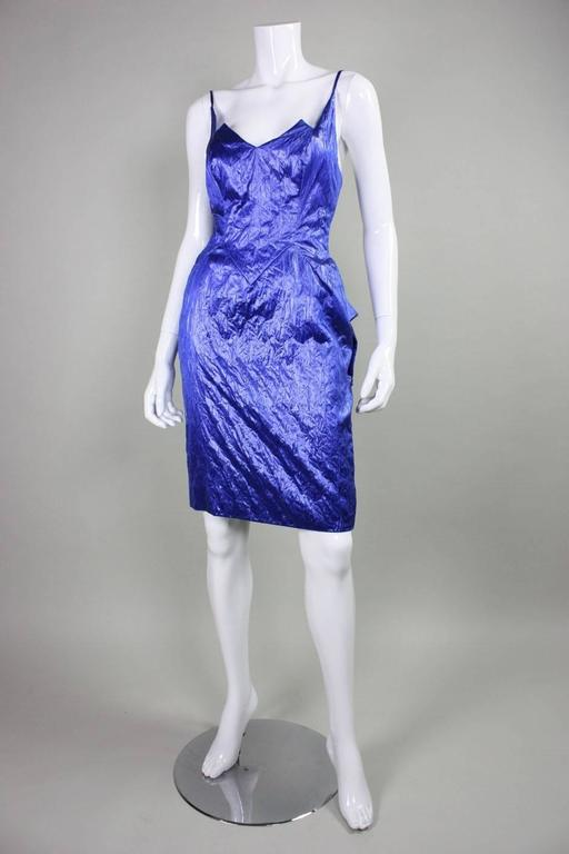 1980's Loris Azzaro Geometric Cocktail Dress & Jacket For Sale 1