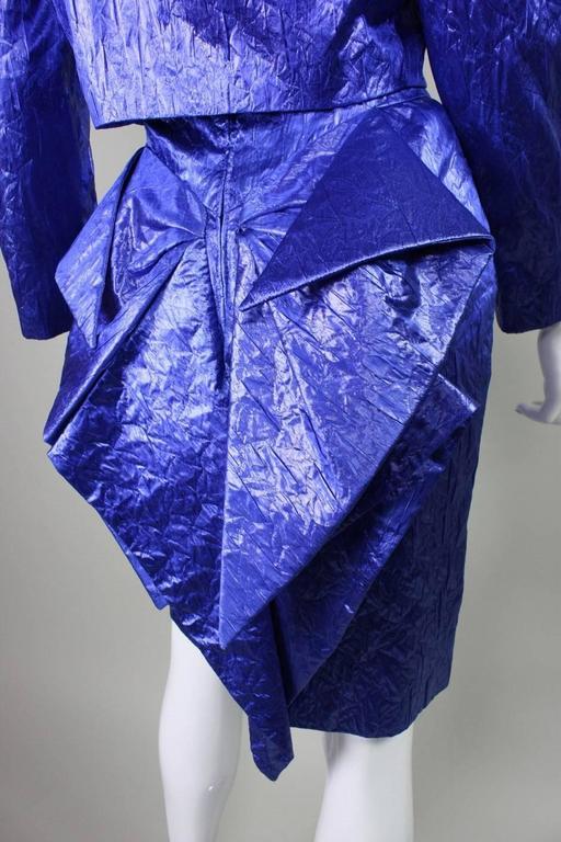1980's Loris Azzaro Geometric Cocktail Dress & Jacket For Sale 4