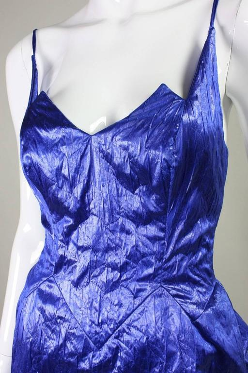 1980's Loris Azzaro Geometric Cocktail Dress & Jacket For Sale 3