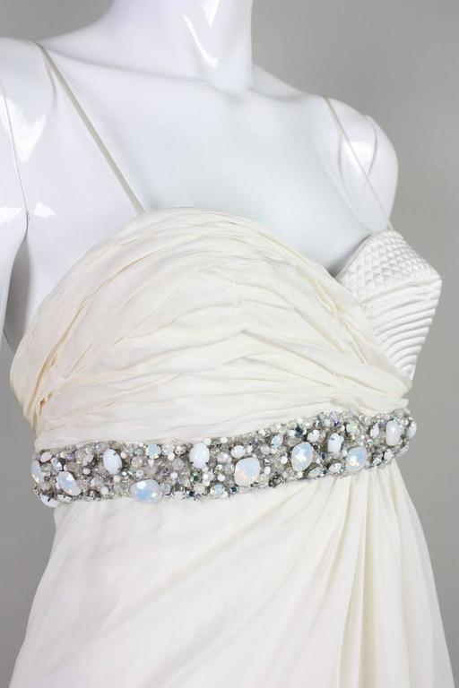 Roberto Cavalli Chiffon Goddess Gown For Sale 3