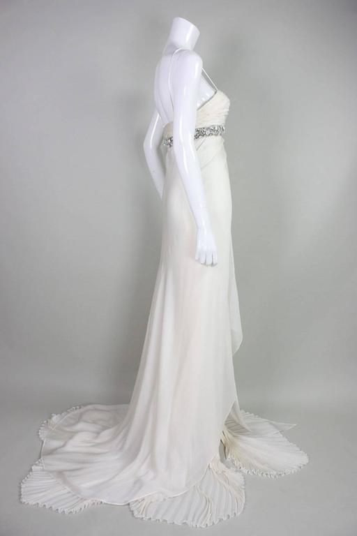 Roberto Cavalli Chiffon Goddess Gown In Excellent Condition For Sale In Los Angeles, CA