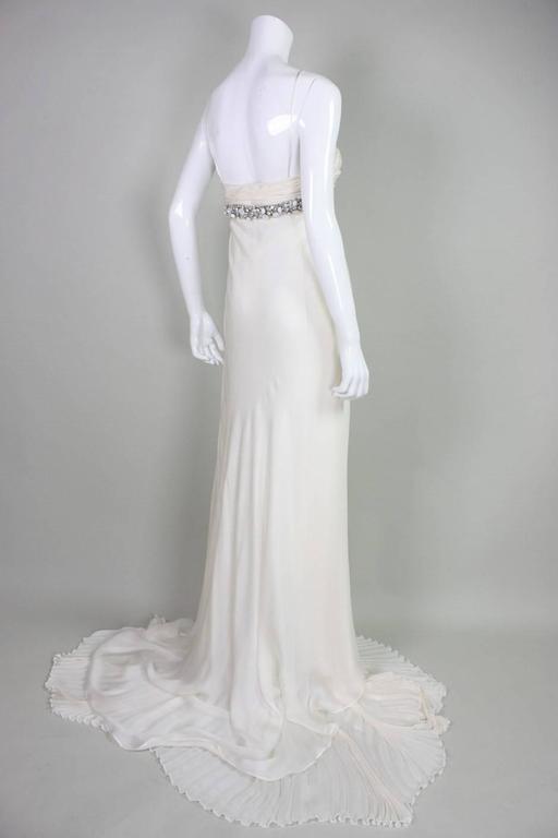 Women's Roberto Cavalli Chiffon Goddess Gown For Sale