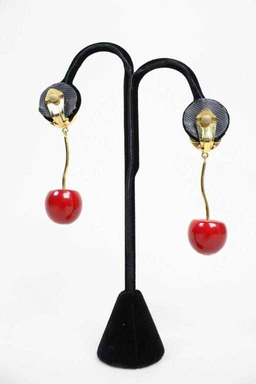 Valentino Cherry & Pearl Earrings 2