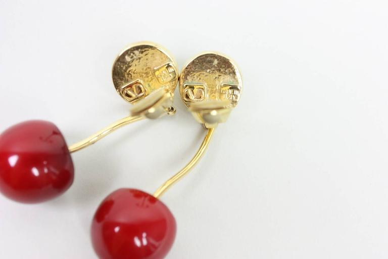 Valentino Cherry & Pearl Earrings 4