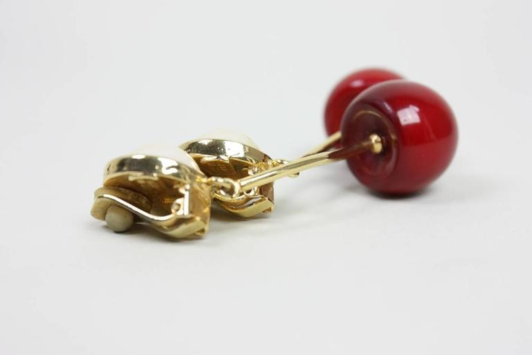 Valentino Cherry & Pearl Earrings 3
