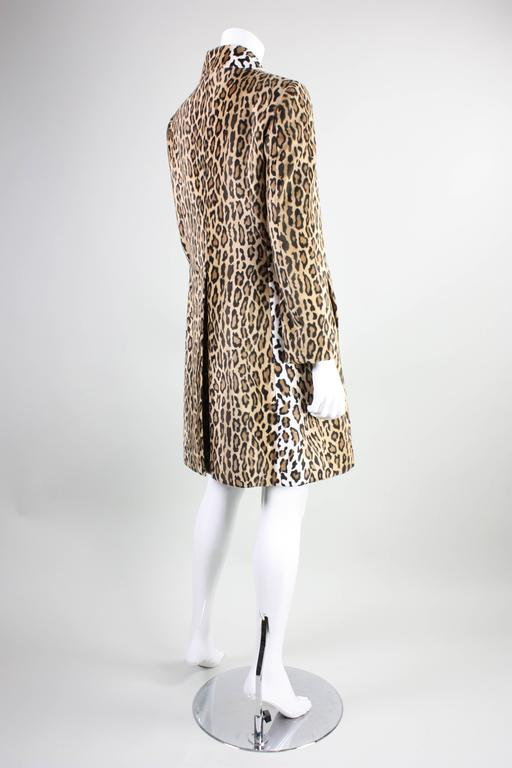 Moschino Faux Leopard Coat, 1990s  In Excellent Condition For Sale In Los Angeles, CA
