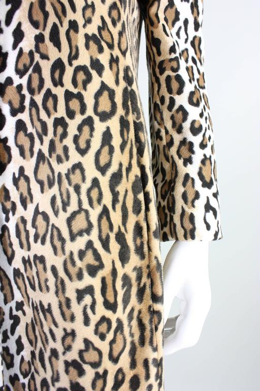 Moschino Faux Leopard Coat, 1990s  For Sale 1