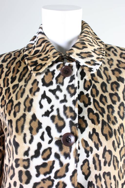 Women's Moschino Faux Leopard Coat, 1990s  For Sale
