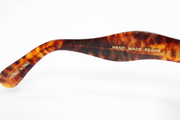 Oversized Faux Tortoise Shell Sunglasses with Rhinestones 5