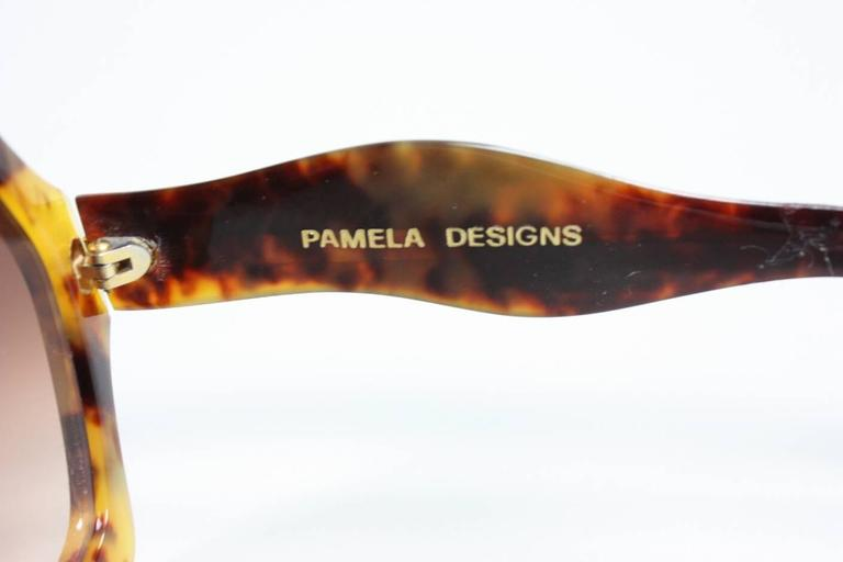 Oversized Faux Tortoise Shell Sunglasses with Rhinestones 6
