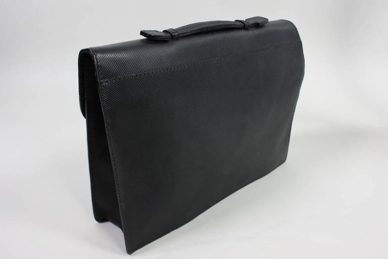 1990's Bottega Veneta Black Leather Briefcase 2