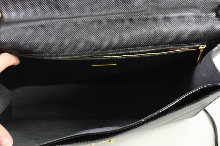 1990's Bottega Veneta Black Leather Briefcase 4