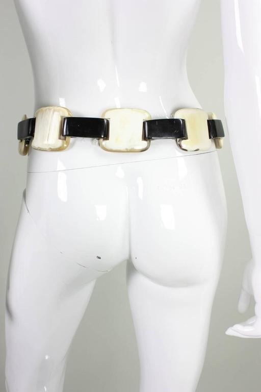 1980's Yves Saint-Laurent Horn Link Belt 3