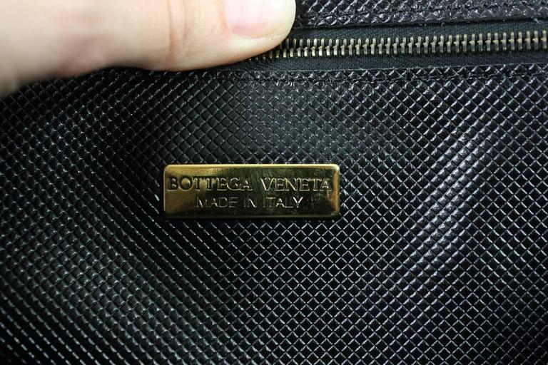 1990's Bottega Veneta Black Leather Briefcase 7