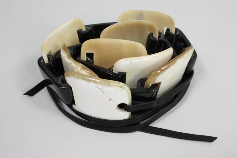 1980's Yves Saint-Laurent Horn Link Belt 4