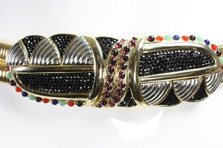 Women's Judith Leiber Belt with Crystals and Cabochons For Sale