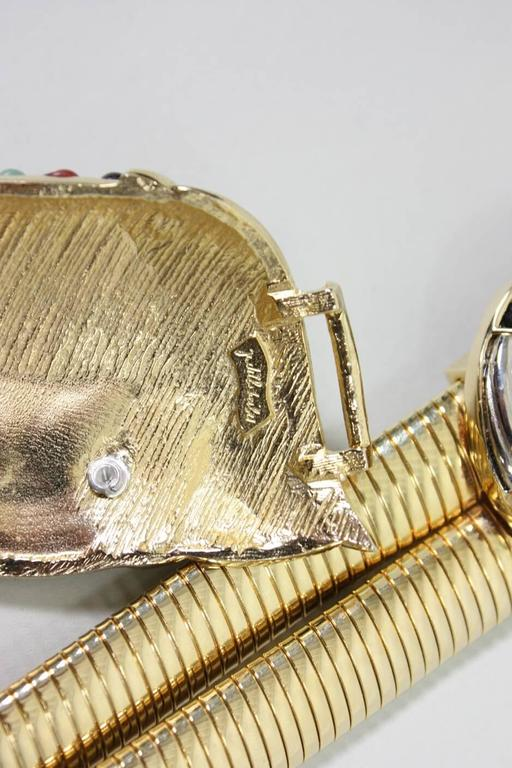 Judith Leiber Belt with Crystals and Cabochons For Sale 1