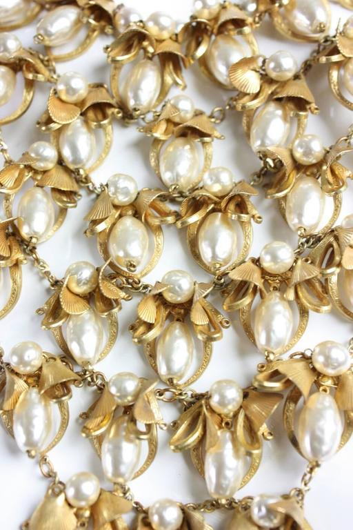 Women's Miriam Haskell Pearl Bib Necklace For Sale