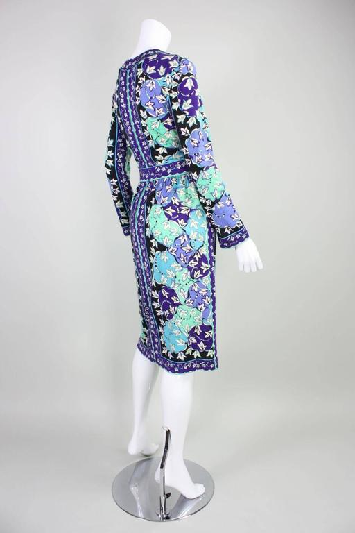 Women's or Men's 1970's Pucci Cashmere Blend Printed Dress For Sale