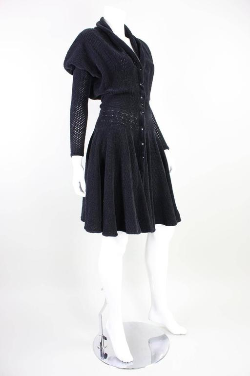1980's Alaia Chenille Knit Dress 3