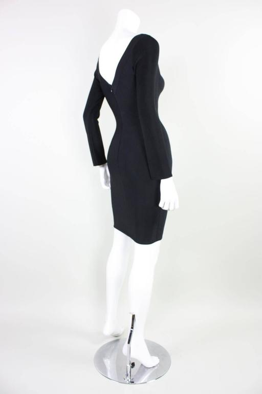 Herve Leger Body-Con Houndstooth Dress, 1990s  In Excellent Condition For Sale In Los Angeles, CA