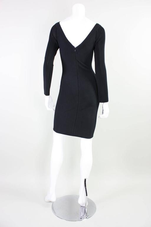 Women's  Herve Leger Body-Con Houndstooth Dress, 1990s  For Sale