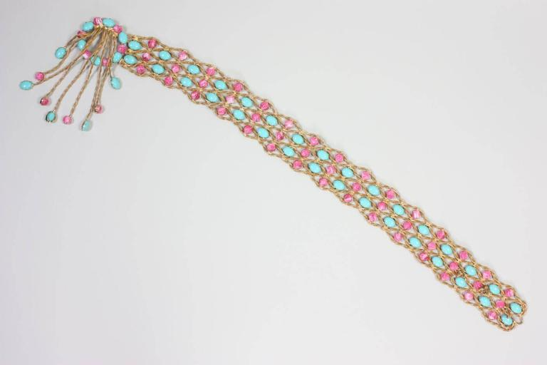 1960's Kenneth Jay Lane Bejeweled Belt For Sale 2