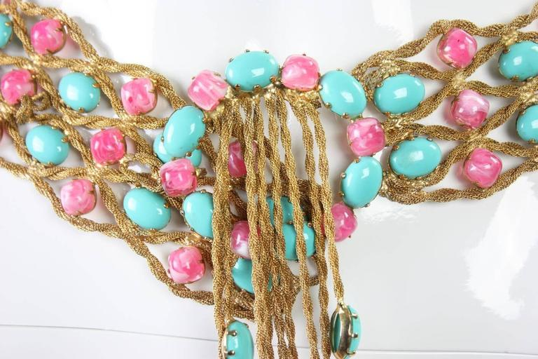 1960's Kenneth Jay Lane Bejeweled Belt For Sale 1