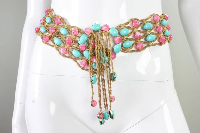 1960's Kenneth Jay Lane Bejeweled Belt 3