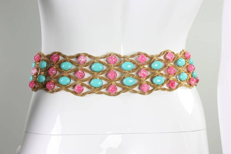 Women's 1960's Kenneth Jay Lane Bejeweled Belt For Sale
