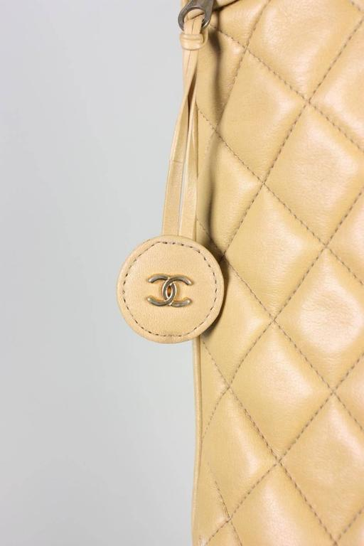 Vintage Chanel Quilted Leather Large Handbag 3