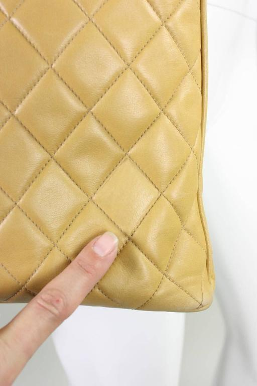 Vintage Chanel Quilted Leather Large Handbag 7