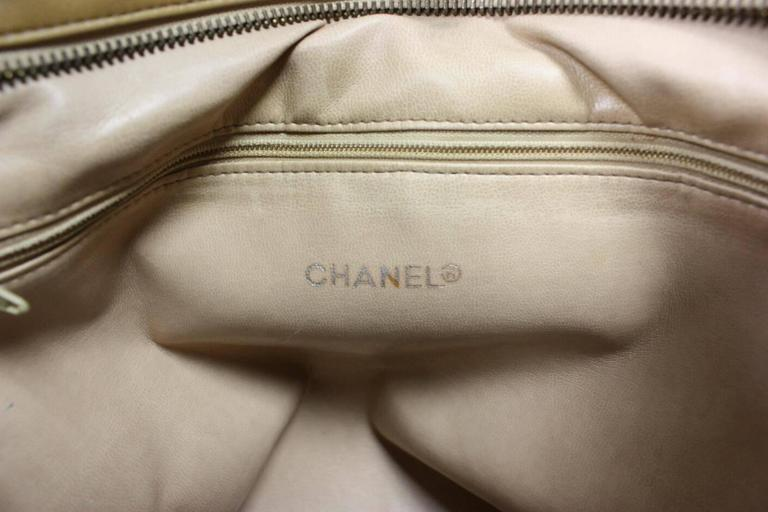 Vintage Chanel Quilted Leather Large Handbag 9