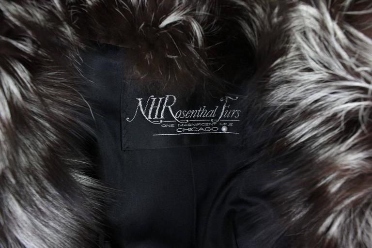 Vintage Silver Fox Fur Coat For Sale 5