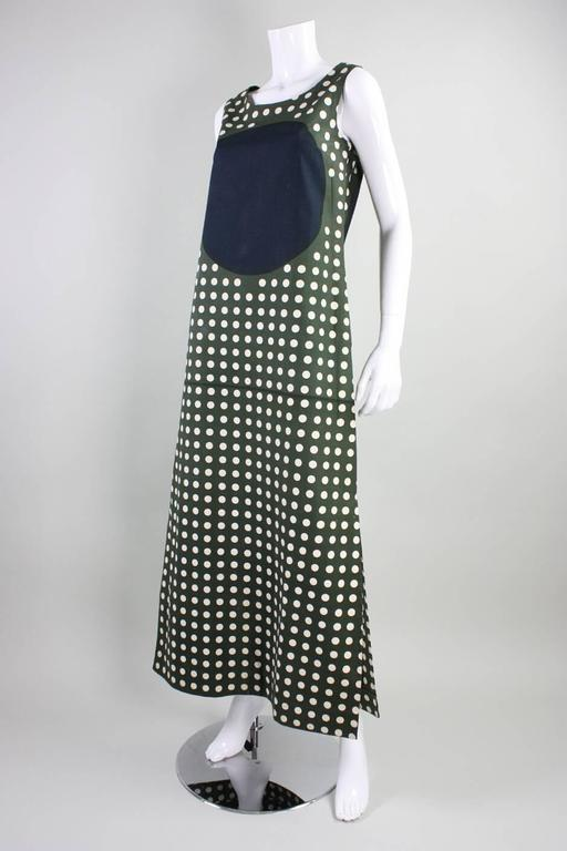 1960's Marimekko Graphic Cotton Maxi Dress 5