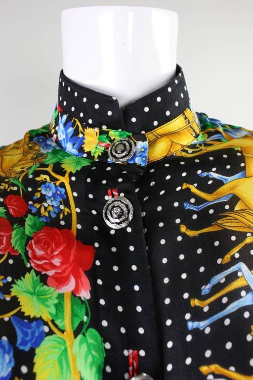 Women's 1990's Gianni Versace Silk Charmeuse Blouse For Sale